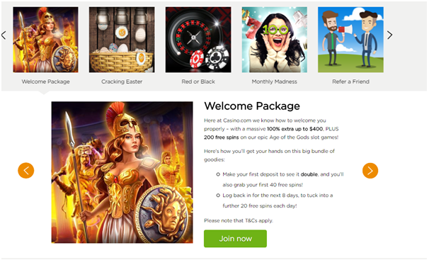 Casino.com- Bonus