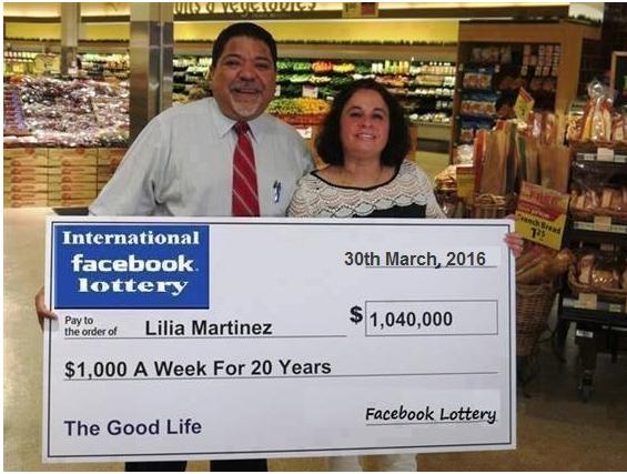 Facebook Lotteries Scam in Canada