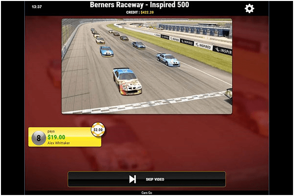 How to play Virtual Sports Games at Play Now Canada- Cars go