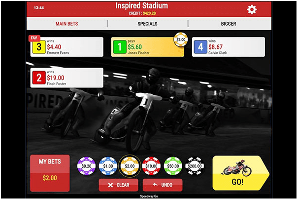 How to play Virtual Sports Games at Play Now Canada- Speedway go