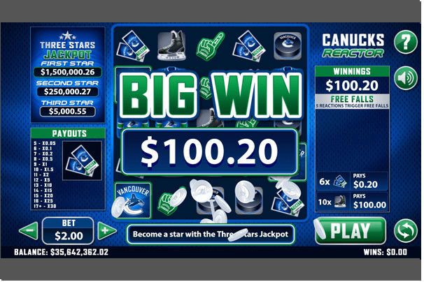 How to win jackpot in Canucks reactor