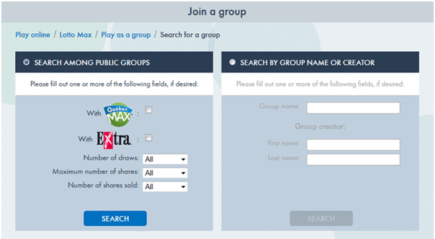 How to Join an Existing Group to play Lotteries?