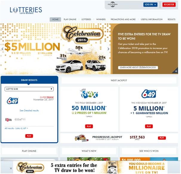 Online Lotto Canada