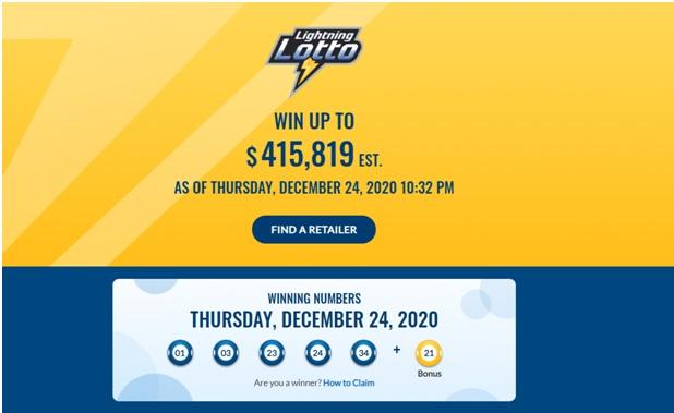 play and win Lightning Lotto Jackpot