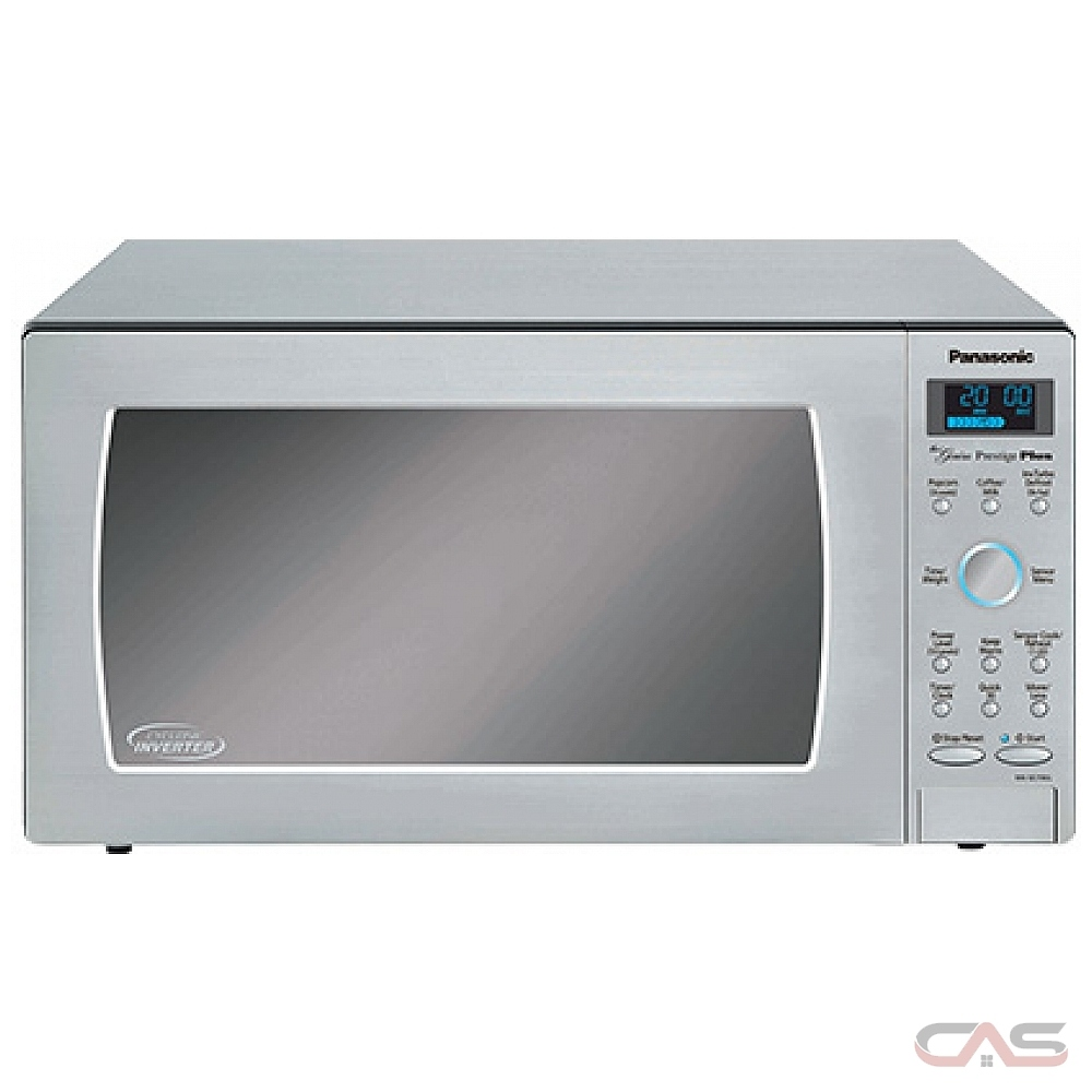 panasonic nnse796s countertop microwave 1 6 cu ft capacity 1200w watts 20 inch exterior width stainless steel colour