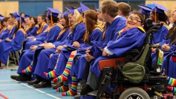 rainbow-socks-at-vanier-school-graduation