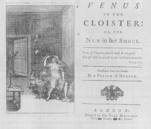[A scan of the title page of a 1725 edition of 'Venus in the cloister'.]