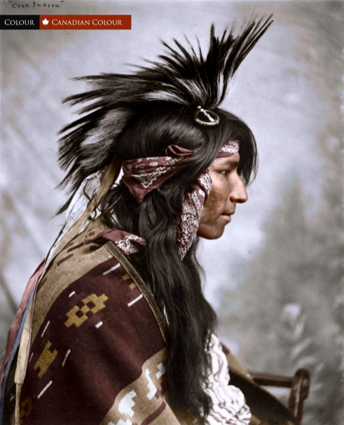 Cree 1903 - Colourized Photograph