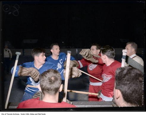 Stanley Cup 1949 - Colourized Photograph