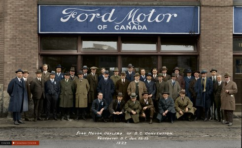 Ford Convention - Colourized Photograph