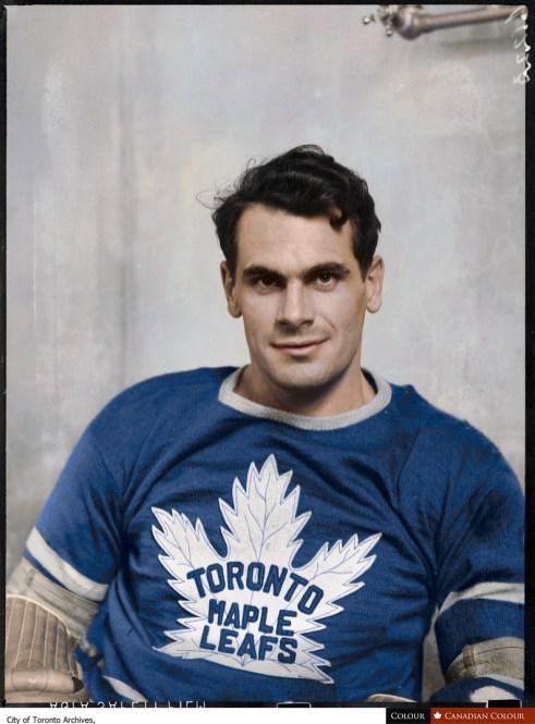 Syl Apps - Toronto Maple Leafs - Colourized Photograph
