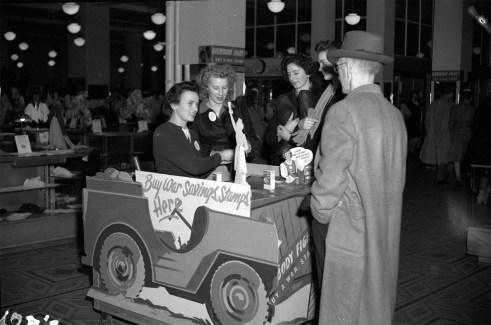 War Savings Booth - Woodwards - Original Photograph