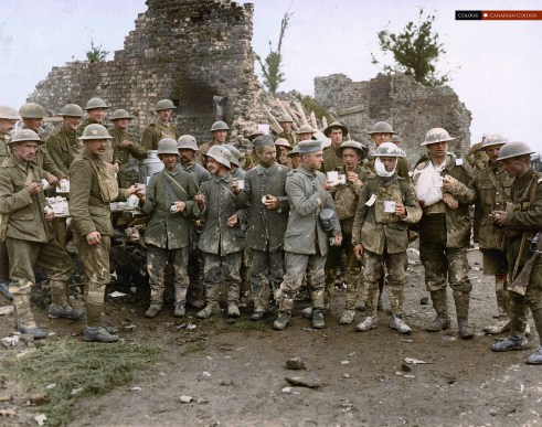 WW1 Tea - Colourized Photograph