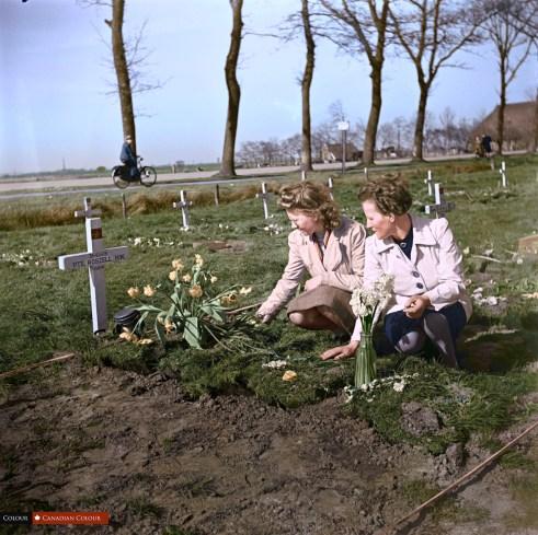 Dutch Girls - Colourized Photograph