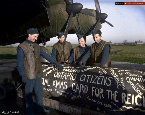 Xmas Card for the Reich - Colourized Photo