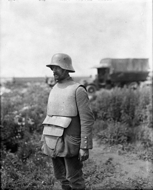 German w/Body Armour - Original Photograph