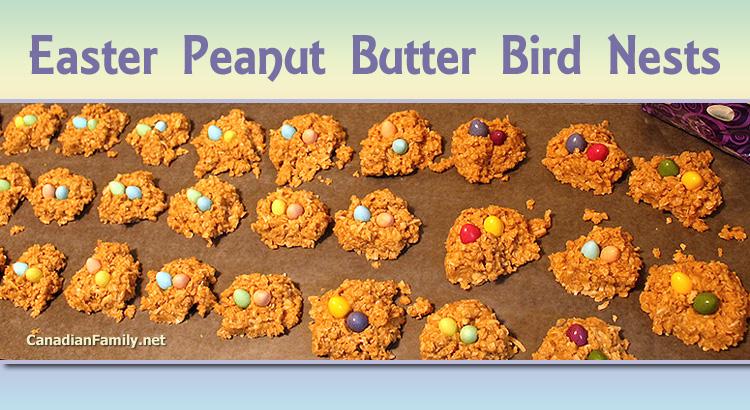 Peanut Butter Bird Nests – No-Bake Recipe for Easter