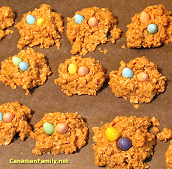 Peanut Butter Bird Nests Easter Recipe