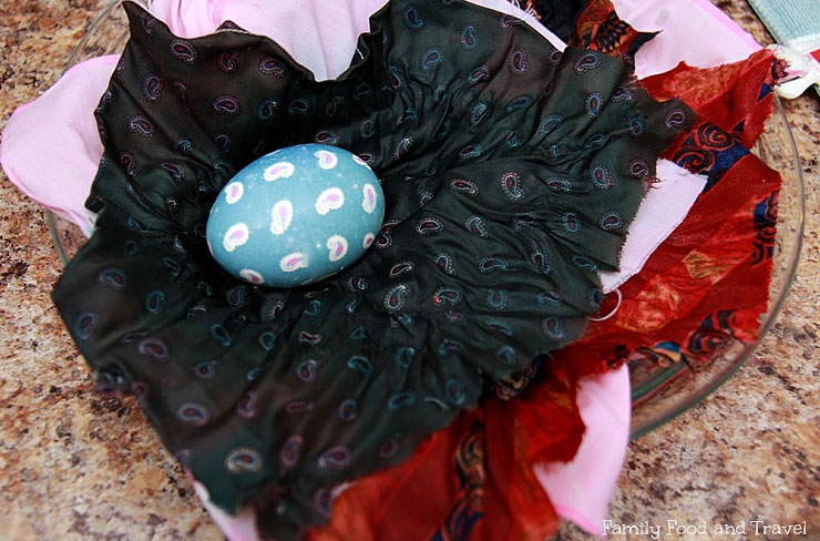 Easy Easter Crafts for Adults - Silk Tie Easter Eggs