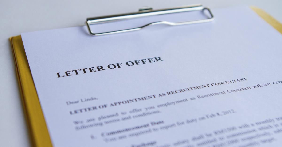 Letter of Offer 1200x627