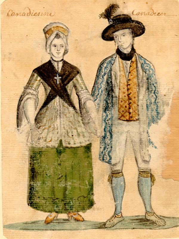 1922917162fd2 Canadian Couple (c. 1750-1780) by Anonyme. Source  Ville de Montréal.  Gestion de documents et archives. Fonds BM7.