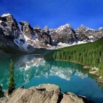 This classic mountain scene is the setting for Moraine Lake Lodge, which is open from June to early October.