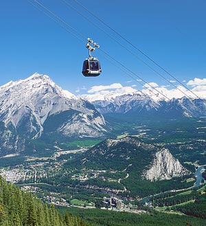 Take a ride on the Banff Gondola.