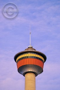 The Calgary Tower, now safe from Mountain Man.