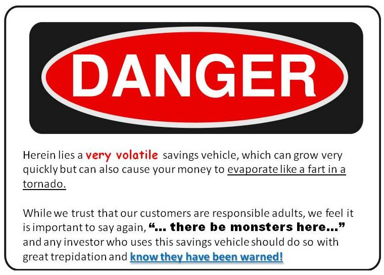 warnings on financial products