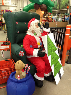 Santa at Home Depot