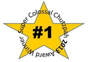 Chutzpah 2013 Super Colossal Award Winner