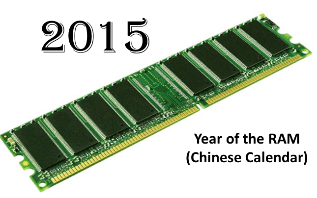 Happy New Year 2015 the Year of the RAM