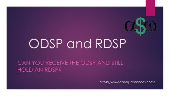 ODSP RDSP