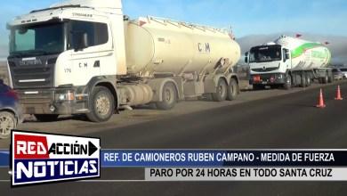 Photo of Redacción Noticias |  PARO DE CAMIONEROS POR 24 HORAS – LAS HERAS SANTA CRUZ
