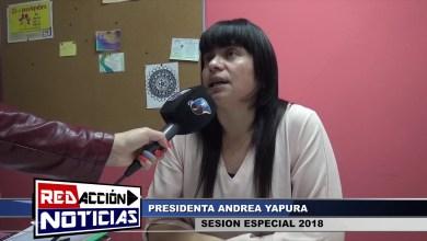 Photo of Redacción Noticias |  SESION ESPECIAL 2018 – ANDREA YAPURA – LAS HERAS SANTA CRUZ