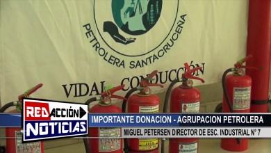 Photo of Redacción Noticias |  DONACION MATAFUEGOS – AGRUPACION PETROLERA – LAS HERAS SANTA CRUZ