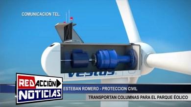 Photo of Redacción Noticias |  TRANSPORTAN COLUMNAS PARA EL PARQUE EOLICO – LAS HERAS SANTA CRUZ