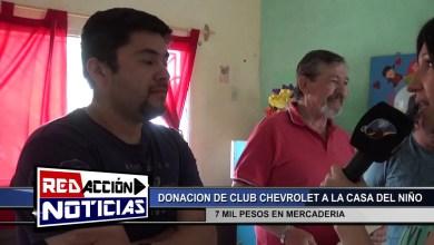 Photo of Redacción Noticias |  DONACION DEL CLUB CHEVROLET – LAS HERAS SANTA CRUZ