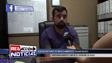Photo of Redacción Noticias |  DERRAME DE AGUA JULIAN SAUCO – LAS HERAS SANTA CRUZ