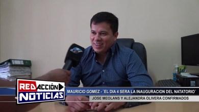 Photo of Redacción Noticias |  MAURICIO GOMEZ – INAUGURACION DE NATATORIO -LAS HERAS SANTA CRUZ