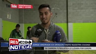 Photo of Redacción Noticias |  JORGE ANDRADE FUTBOLISTA EX DRAGON VISITO A LOS CHICOS DEL CLUB – LAS HERAS SANTA CRUZ