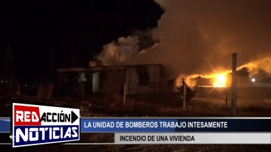 Photo of Redacción Noticias |  INCENDIO DE UNA VIVIENDA – LAS HERAS SANTA CRUZ