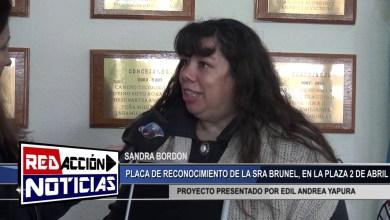 Photo of Redacción Noticias |  PLACA DE RECONOCIEMIENTO PARA LA SRA BRUNEL – LAS HERAS SANTA CRUZ
