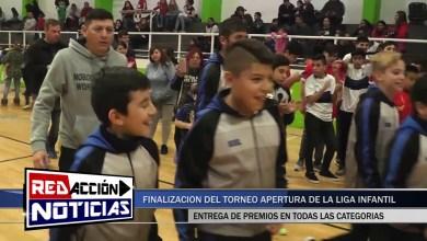 Photo of Redacción Noticias |  ENTREGA DE PREMIOS DE LA LIGA INFANTIL DE FUTBOL – LAS HERAS SANTA CRUZ