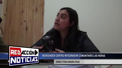 Photo of Redacción Noticias |  NOVEDADES EN EL CENTRO INTEGRADOR COMUNITARIO «LAS HERAS» – LAS HERAS SANTA CRUZ