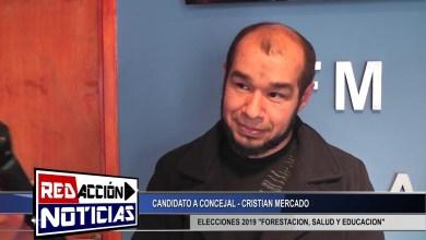 Photo of Redacción Noticias |  CRISTIAN MERCADO CANDIDATO A CONCEJAL – «FORESTACION SALUD Y EDUCACION» – LAS HERAS SANTA CRUZ