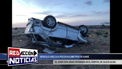 Photo of Redacción Noticias |  VUELCO A 9KM DE KAIKE – EL JOVEN CONTINUA GRAVE – LAS HERAS SANTA CRUZ(INFORME)