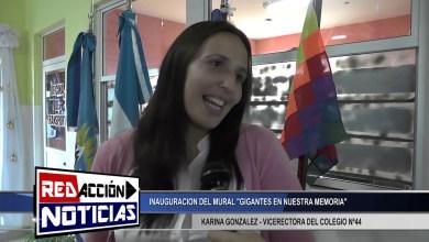 Photo of Redacción Noticias |  KARINA GONZALES – VICERECTORA DEL COLEG. N°44 INAUGURACION DE MURAL – LAS HERAS SANTA CRUZ