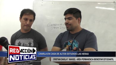 Photo of Redacción Noticias |  CRISTIAN DAVILA Y NAHUEL – CASA DE ALTOS ESTUDIOS LAS HERAS SANTA CRUZ