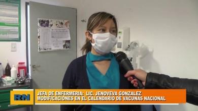 Photo of Redacción Noticias |  Calendario de vacunas: Jefa de enfermería Lic. Jenoveva Gonzalez